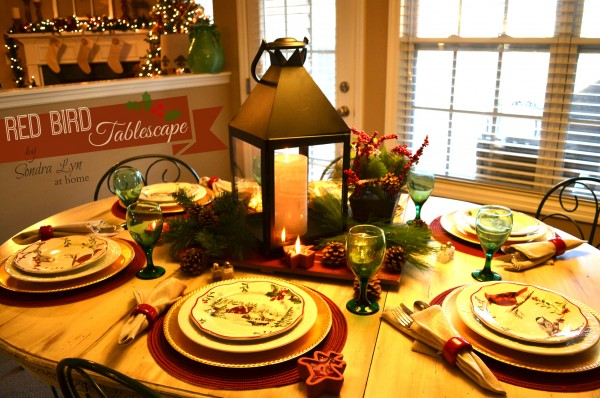 Red Bird Tablescape3-Sondra Lyn at Home
