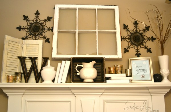 Winter White Mantel3-wtrmk- Sondra Lyn at Home