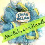 New Baby Door Wreath Tutorial