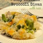 Easy Chicken Broccoli Divan