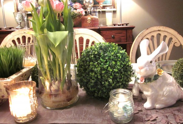 Easter Table Vignette -- Sondra Lyn at Home