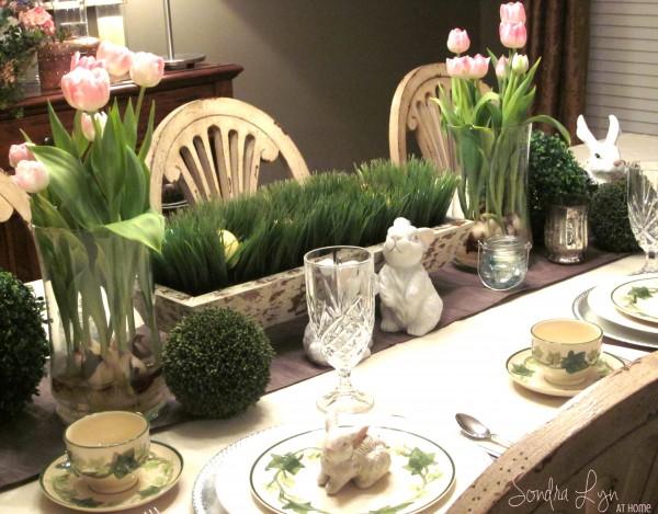 Easter Table Vignette- - Sondra Lyn at Home