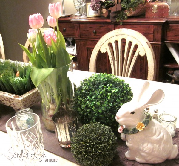 Easter- Table Vignette -- Sondra Lyn at Home