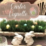 Easter Table Vignette