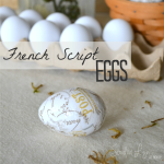 French Script Eggs
