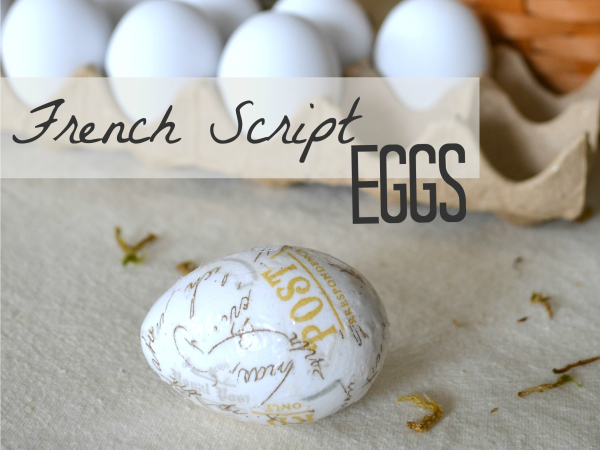 French Script Eggs - Sondra Lyn at Home.com