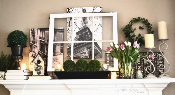 Paris Mantel Detail- Sondra Lyn at Home