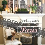 'Springtime in Paris' Spring Mantel