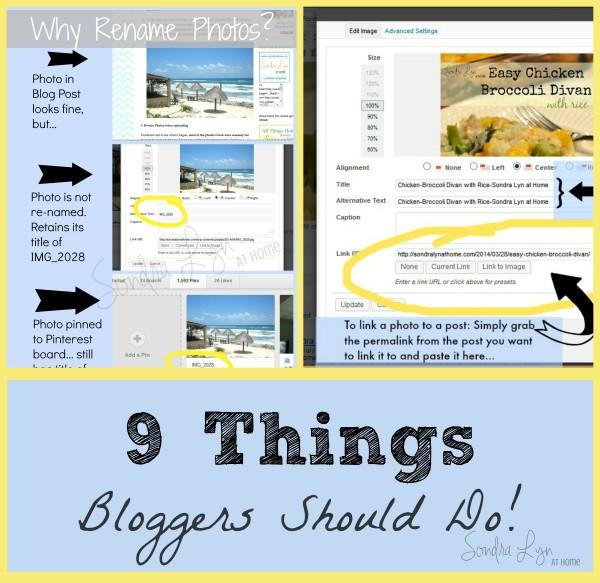 9 Things Bloggers Should Do - Sondra Lyn at Home