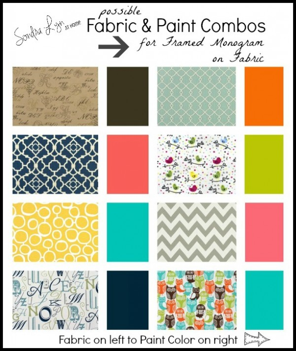 Framed Monogram Color Possibilities - Sondra Lyn at Home