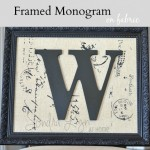 Framed Monogram on Fabric
