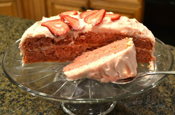 Fresh Strawberry Cake-Sondra Lyn at Home