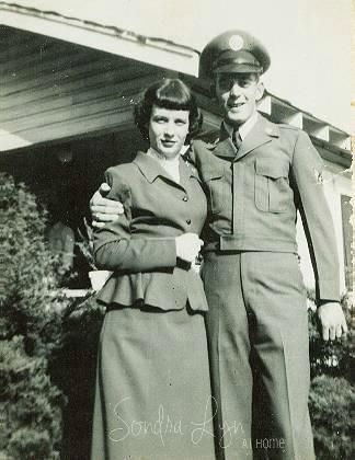 Mom and Dad-AirForce- Sondra Lyn at Home