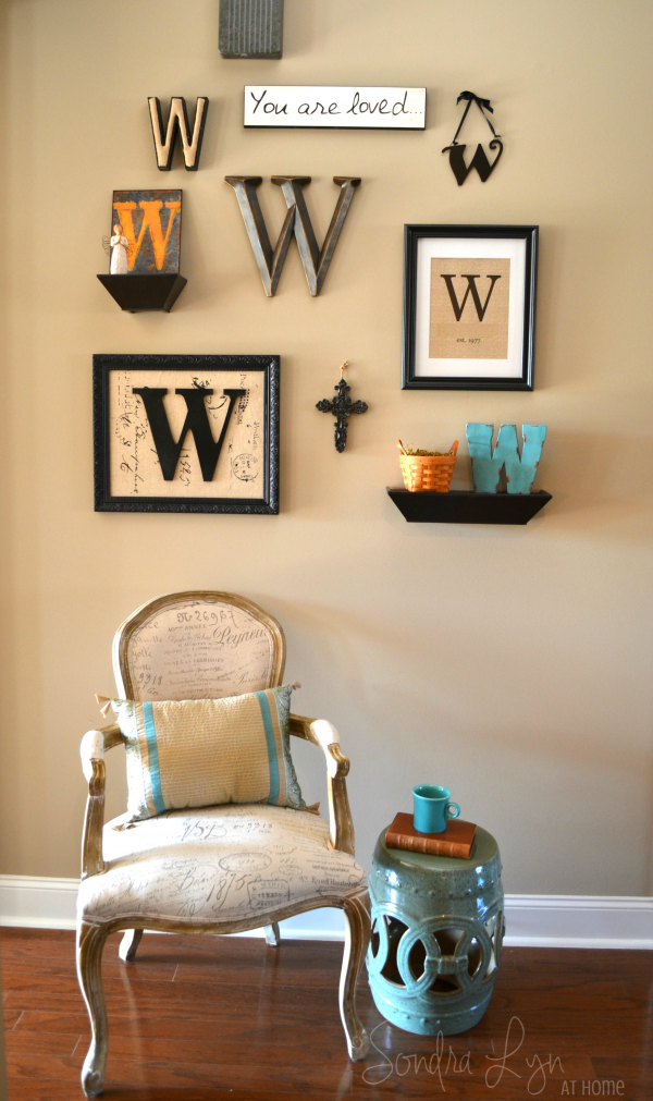 Monogram Gallery Wall- Sondra Lyn at Home