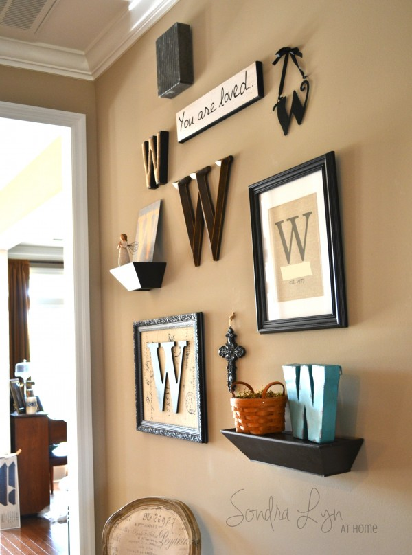 Monogram GalleryWall from FR - Sondra Lyn at Home