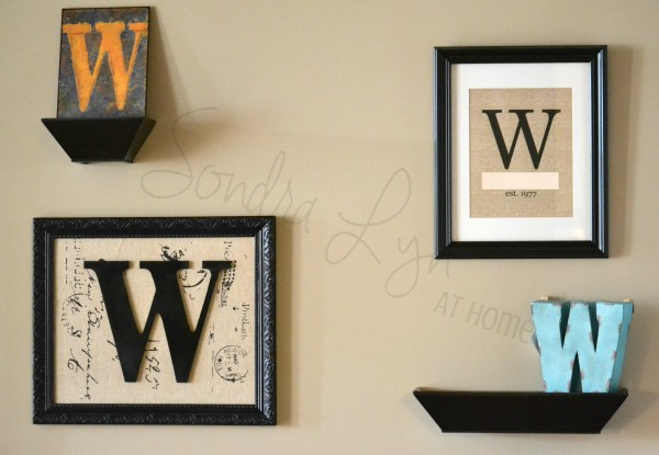 MonogramGalleryWall - Sondra Lyn at Home