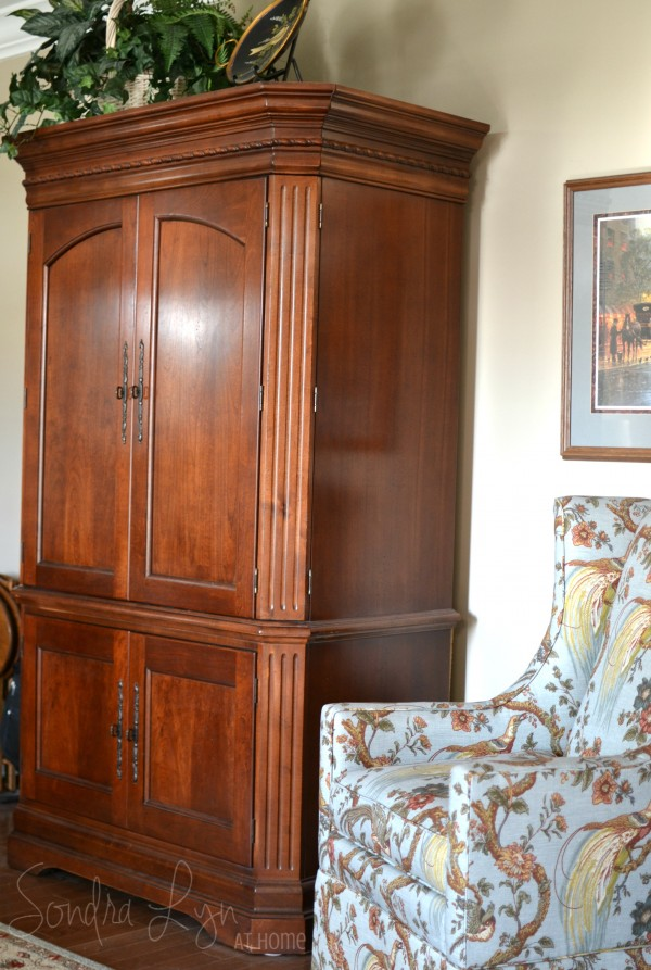 Sitting Room Armoire - Sondra Lyn at Home
