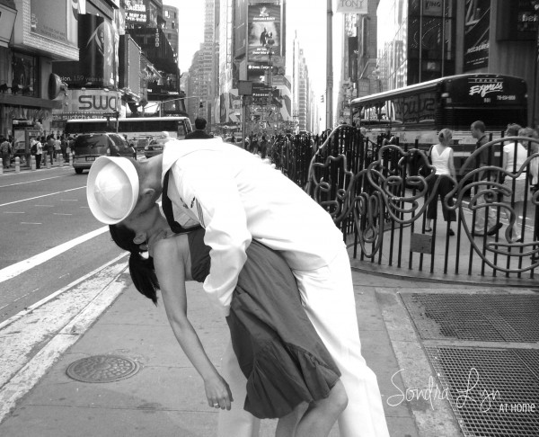 THE KISS re-enactment in times sq-SondraLyn at Home