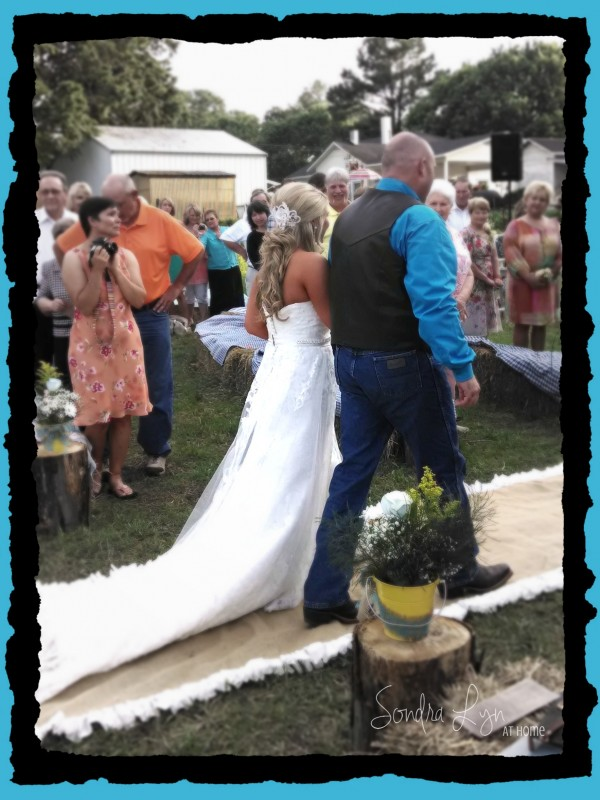 The Lovely Bride on her Daddy's Arm-- A Country Wedding-- Sondra Lyn at Home