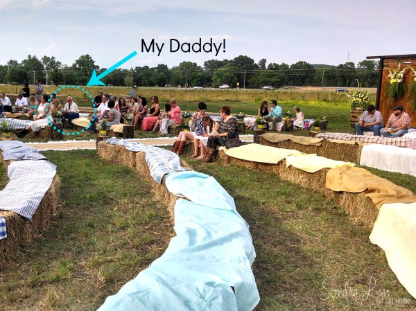 Wedding Seating and Dad--A Country Wedding-- Sondra Lyn at Home