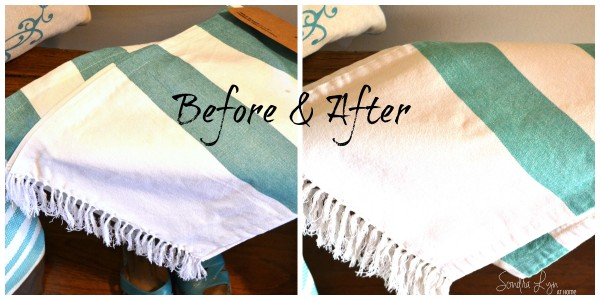 How to Age Textiles with Tea- B&A- Sondra Lyn at Home