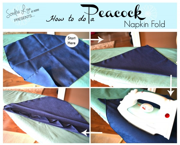Peacock Napkin Fold Tutorial-- Sondra Lyn at Home