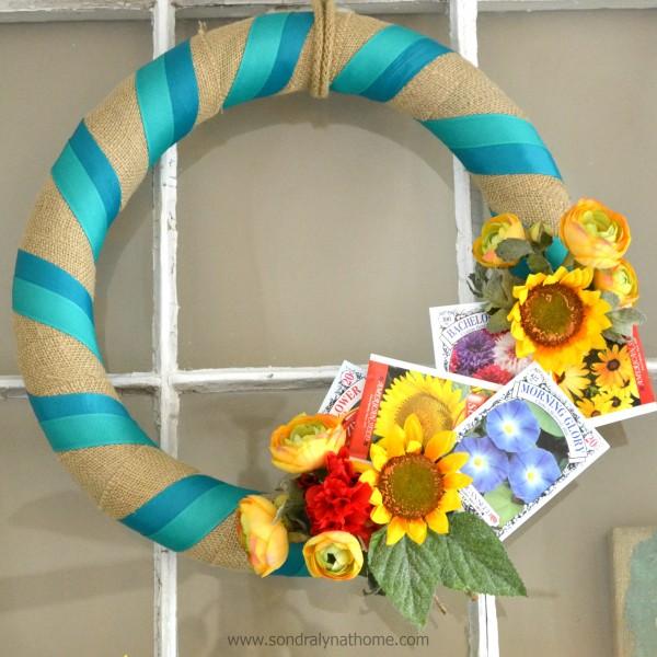 Seed Packet Summer Wreath- Sondra Lyn at Home