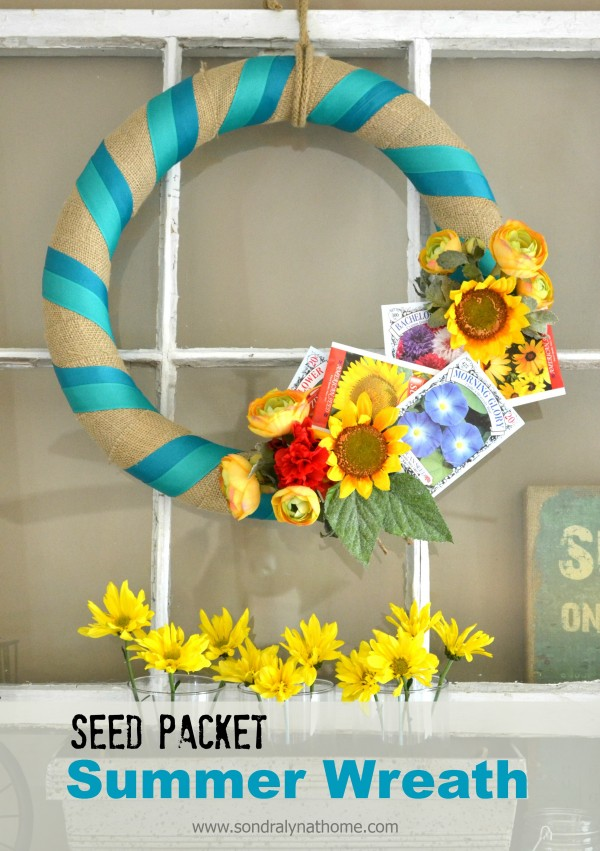 Seed Packet Summer Wreath - Sondra Lyn at Home