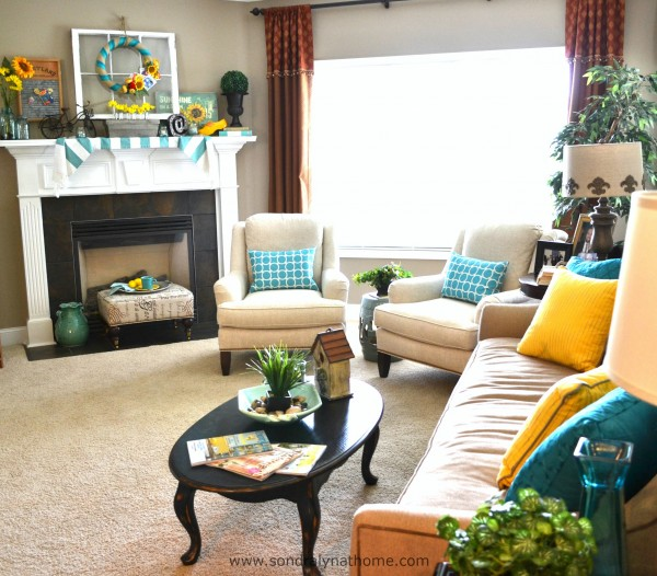Summer Home Tour Family Room - - Sondra Lyn at Home