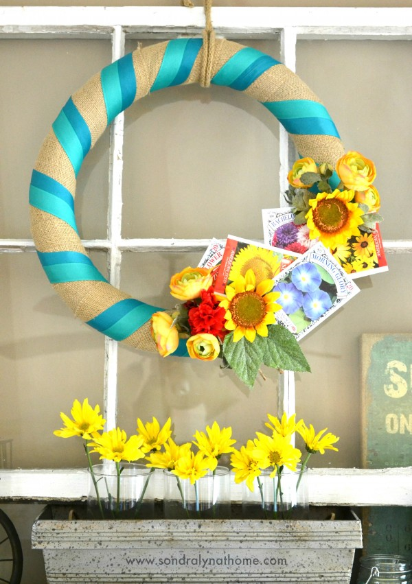 Summer Mantel 2014- Wreath- Sondra Lyn at Home
