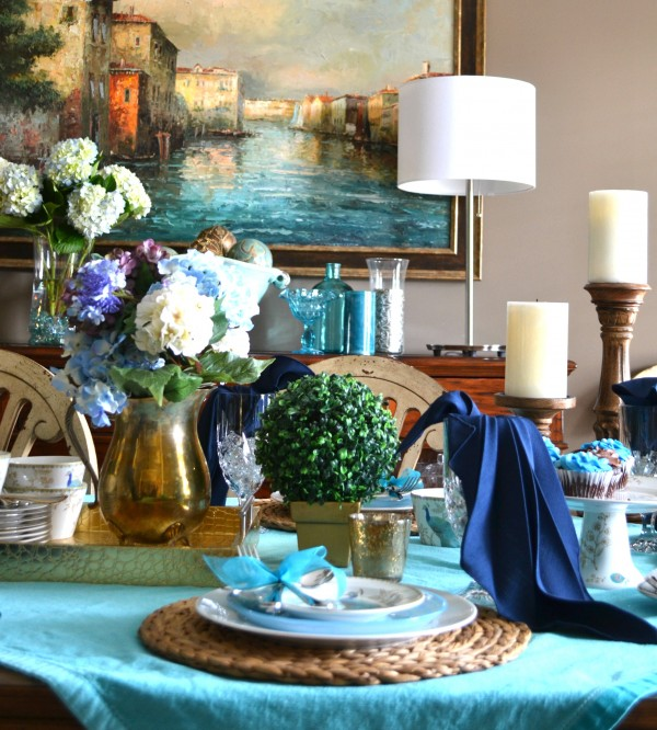 Summer-Peacock-Tablescape- Sondra Lyn at Home