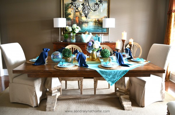 Summer Tablescape -- Sondra Lyn at Home