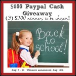 Back-to-School $600 Giveaway