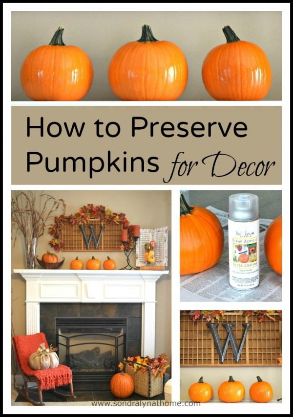How to Preserve Pumpkins for Decor - Sondra Lyn at Home