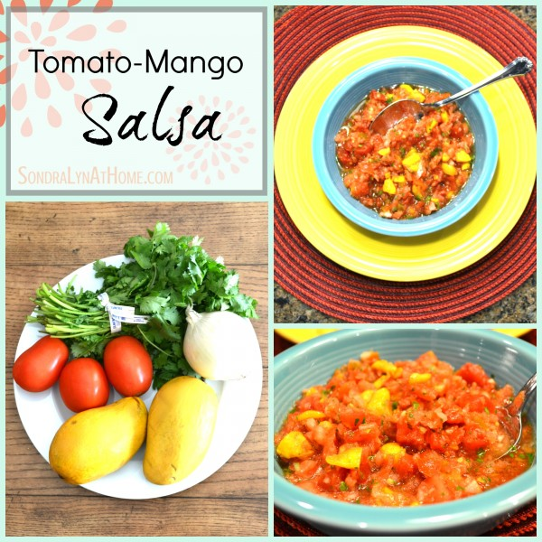 Tomato-Mango Salsa- Sondra Lyn at Home