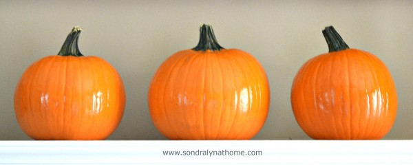 Wash and Seal Pumpkins- How to Preserve Pumpkins for Decor- Sondra Lyn at Home