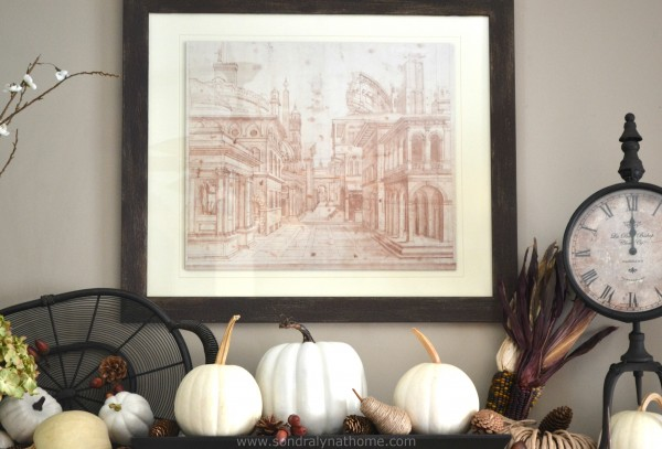 Fall Mantel 2014- Art Detail- Sondra Lyn at Home