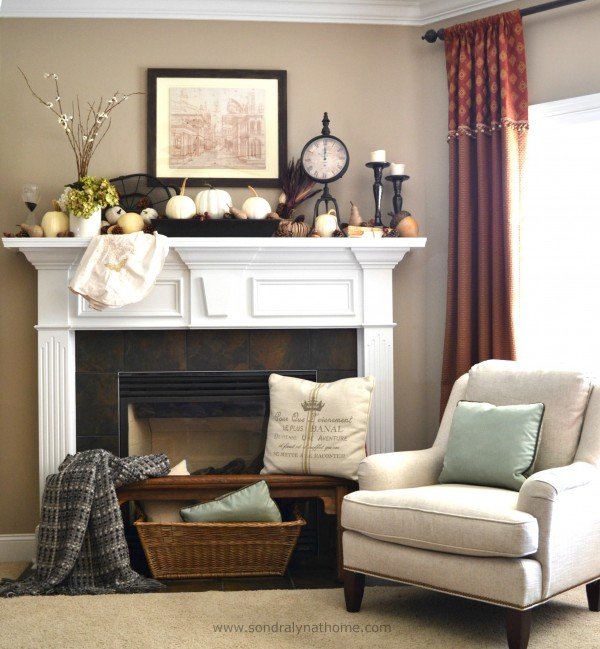 Fall Mantel 2014- Sondra Lyn at Home