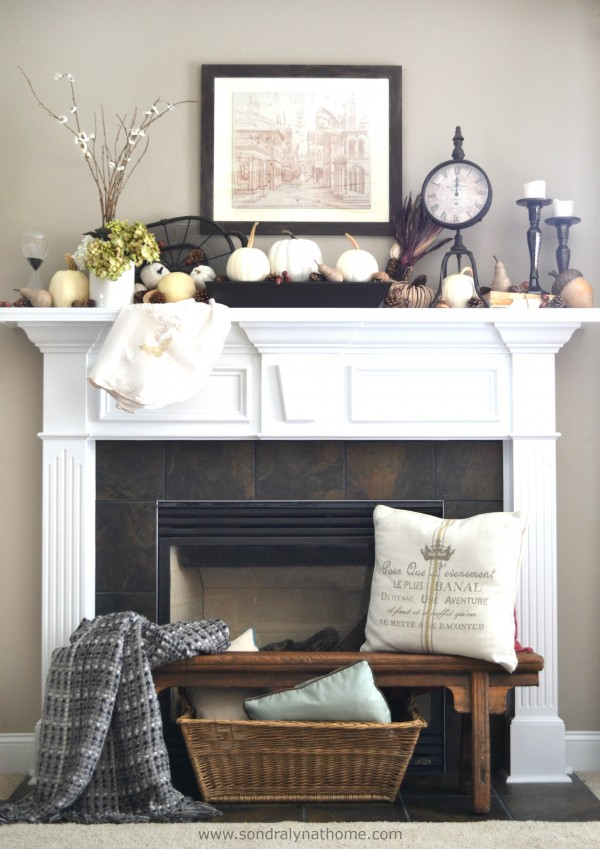 Fall Mantel 2014-- Sondra Lyn at Home