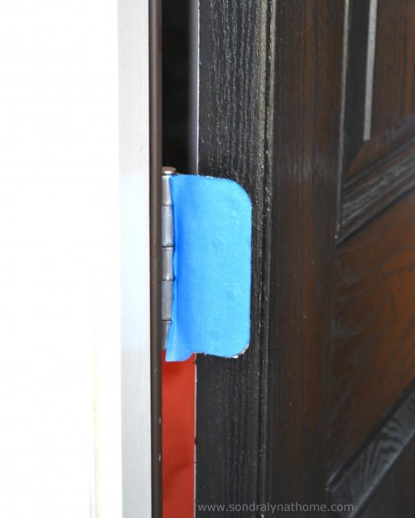 Front Door Redo- tape- SondraLynatHome