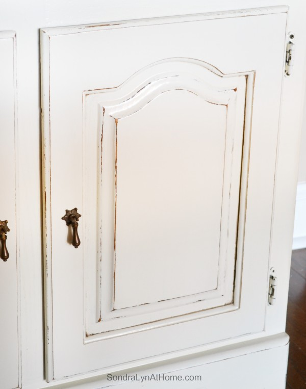 Chalk Painted Hutch -- Distressing -- Sondra Lyn at Home-w
