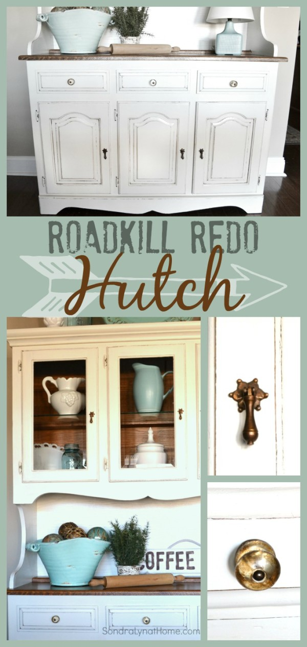 Chalk Painted Hutch Roadkill Redo --- Sondra Lyn at Home-w