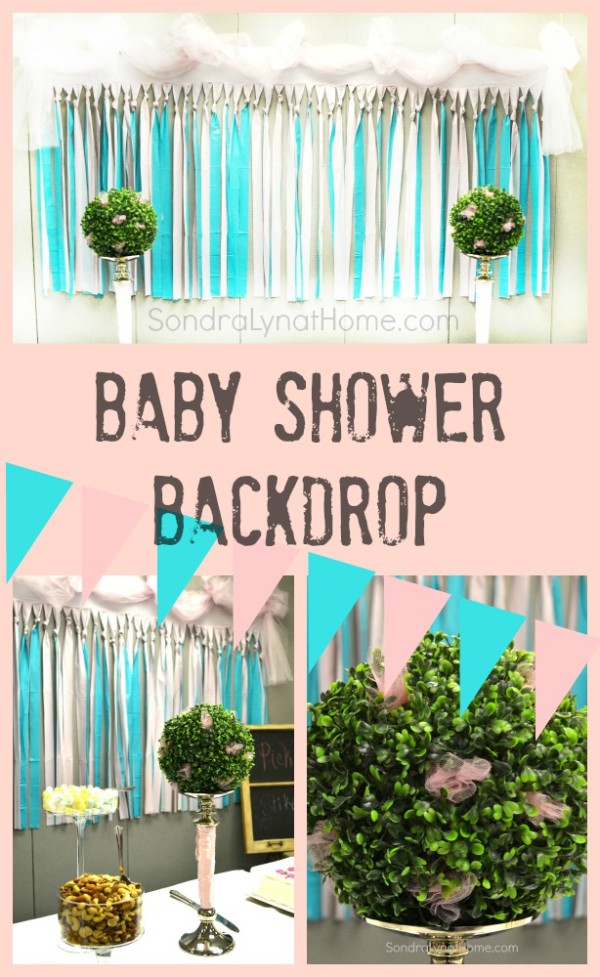 Baby Girl Shower Backdrop - Sondra Lyn at Home