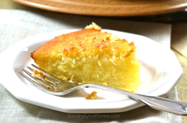 Buttermilk Coconut Pie - Sondra Lyn at Home