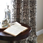 How to Stencil Drop Cloth Curtains - Sondra Lyn at Home.com