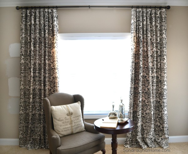 Stenciled Curtains - Sondra Lyn at Home