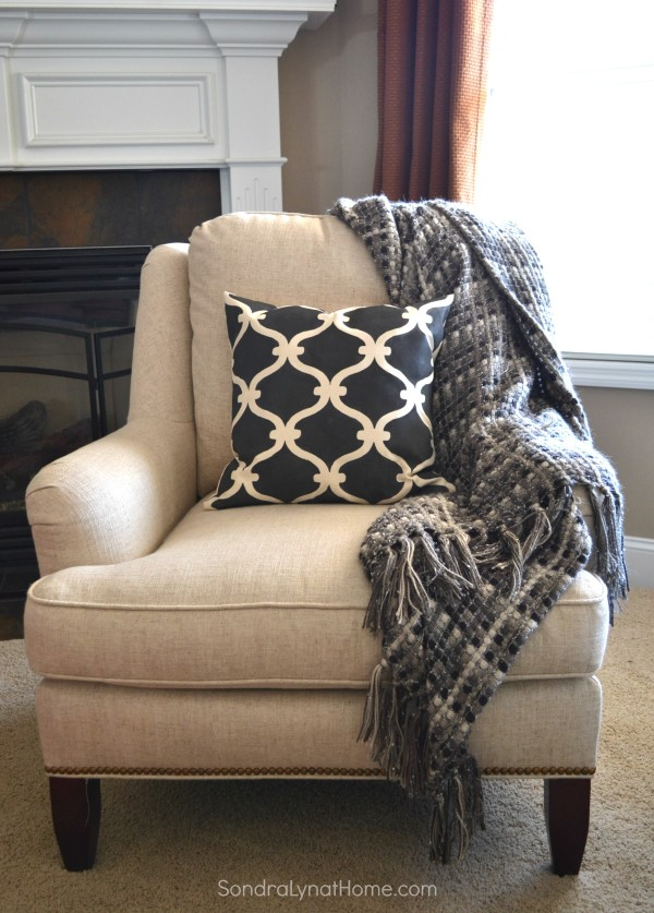 Stenciled Accent Pillow - Sondra Lyn at Home