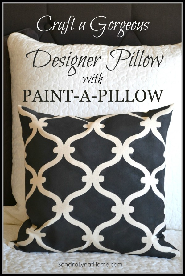 Stenciled pillow with Paint-a-Pillow - Sondra Lyn at Home