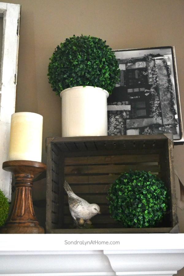 Spring Mantel 2015 - Detail - Sondra Lyn at Home