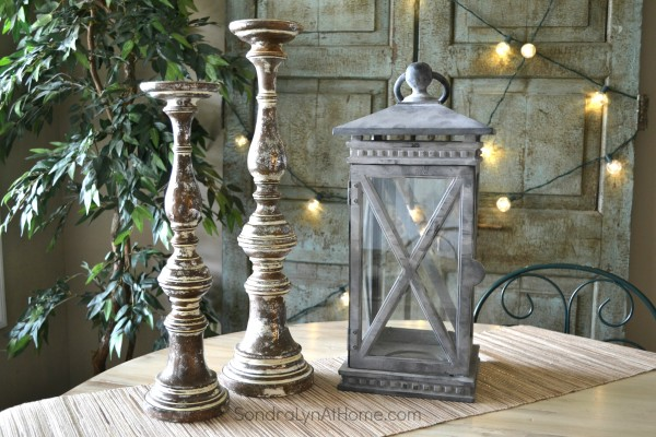 Balsam Hill Lantern and Candlesticks - Sondra Lyn at Home